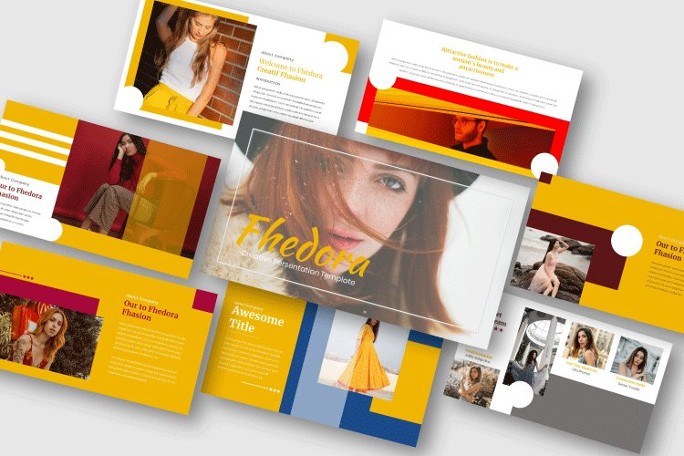 Fhedora - Creative Powerpoint Template example image 1