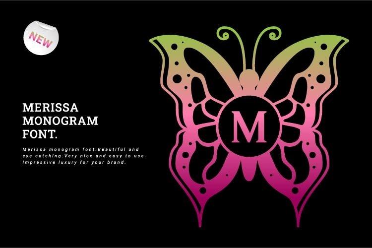 Merissa Monogram Font example image 1