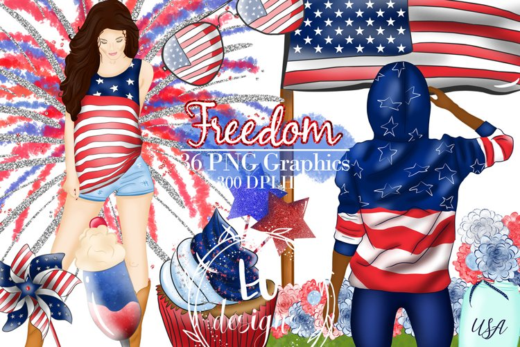 4th Of July Clipart, Independence Day Graphics, USA Clipart