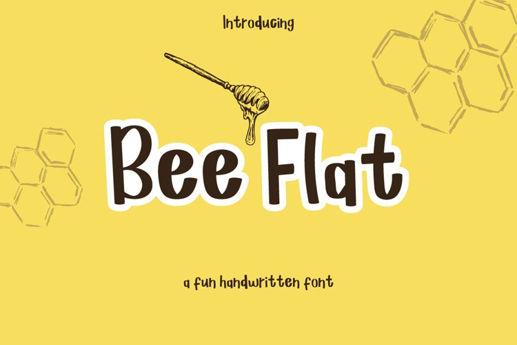 Bee Flat - a handwritten font example image 1