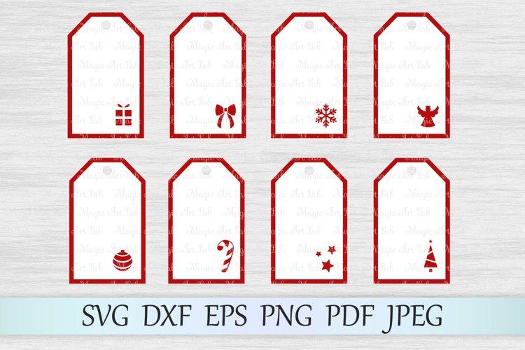 Gift tags svg, Christmas tags svg, Holiday tag svg, Xmas example image 1