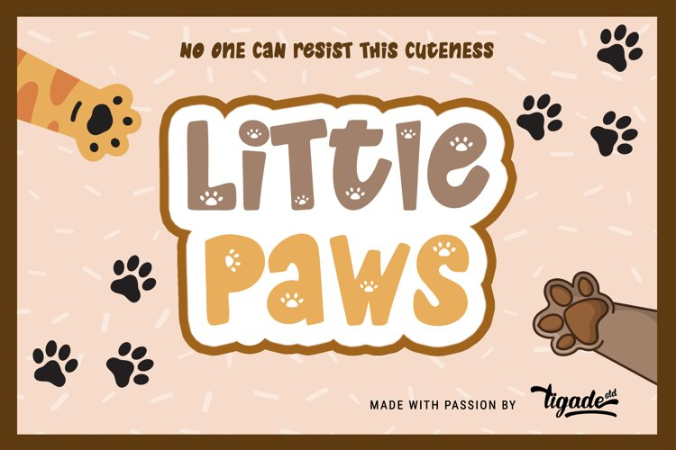 Little Paws - The Most Adorable Cat & Dog Font