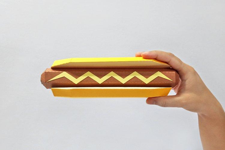 DIY Hotdog - 3d papercraft example image 1