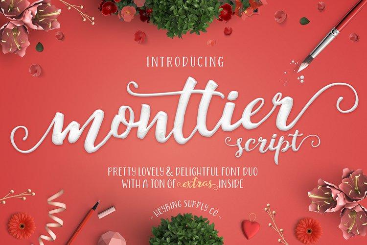 Monttier Script Font Duo example image 1