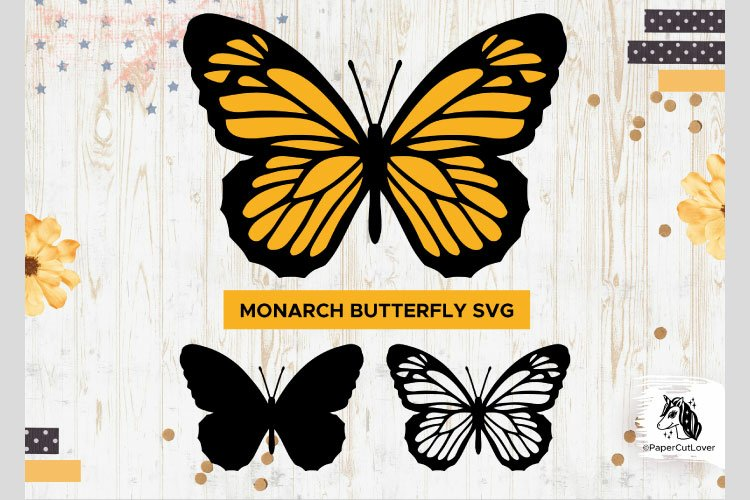 Monarch Butterfly SVG Stacked Butterfly Svg,3D