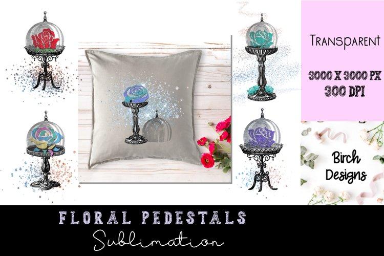 Floral Pedestals Bundle Elegant Sublimation Designs