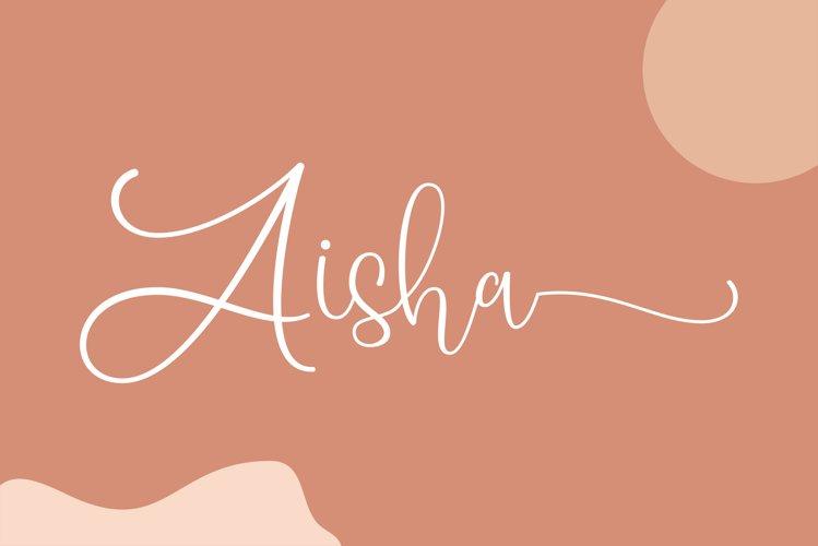 Aisha - a lovely script font example image 1