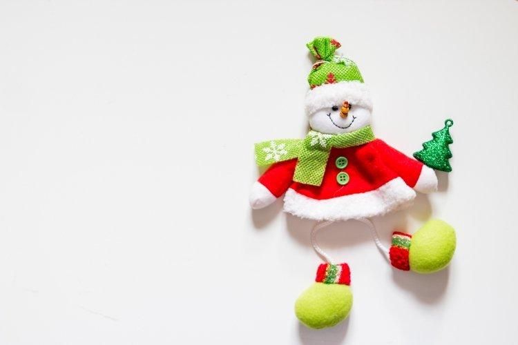 Felt toy, snowman with christmas tree