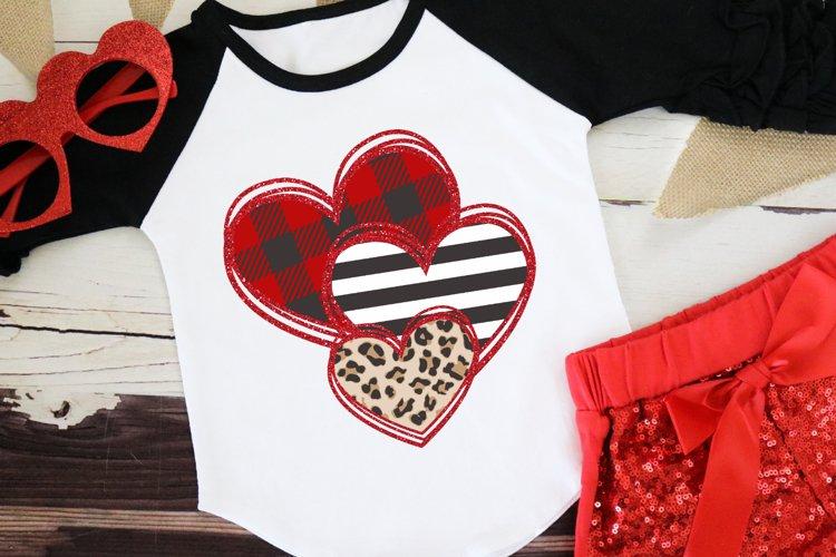Leopard Heart - Buffalo Plaid Valentine - Valentines Day SVG