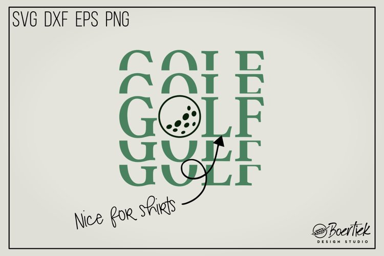 Golf SVG cut file example image 1
