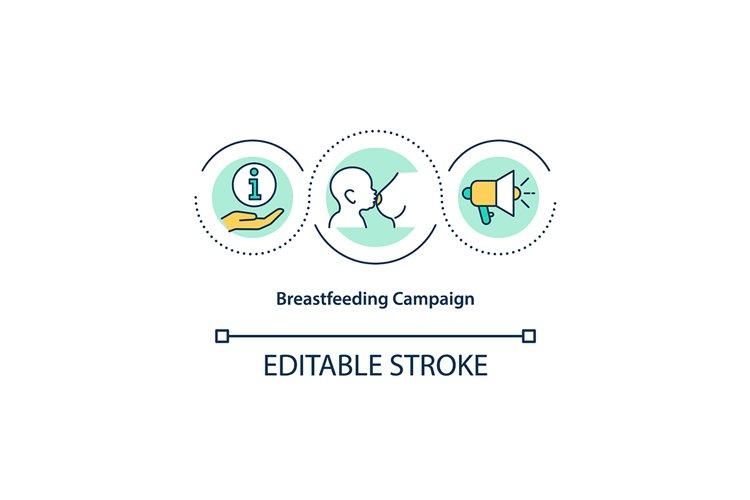 Breastfeeding campaign concept icon example image 1