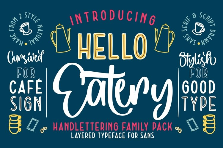 Hello Eatery - Handlettering Pack example image 1