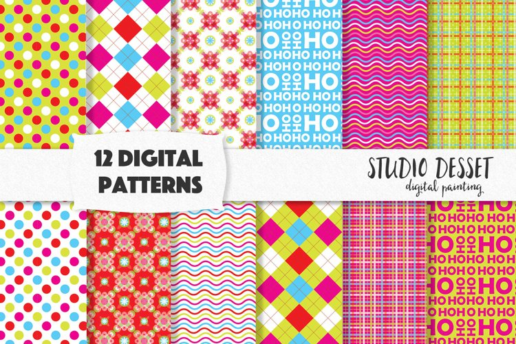 Bright and Fun Christmas Digital Patterns, Sublimation Paper