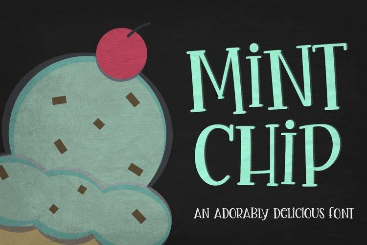 Mint Chip Font & Vectors