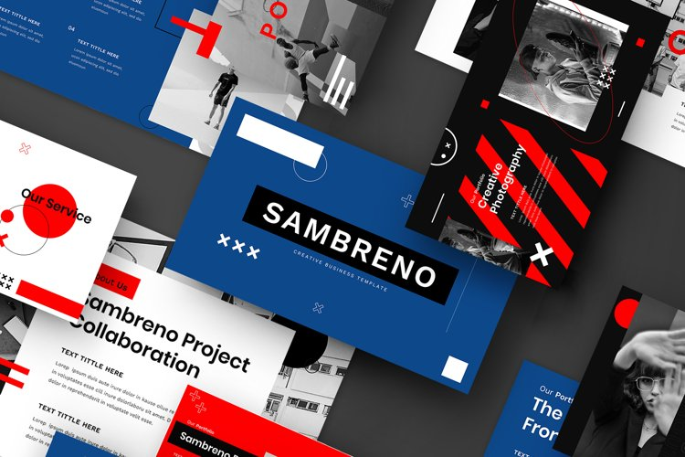 Sambreno - Creative Business PowerPoint Template example image 1