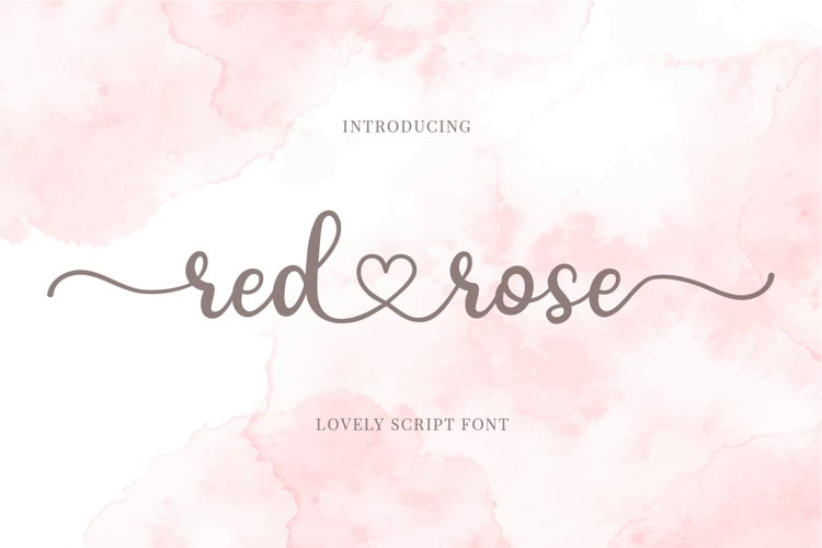 Red Rose - Romantic Script Font example image 1