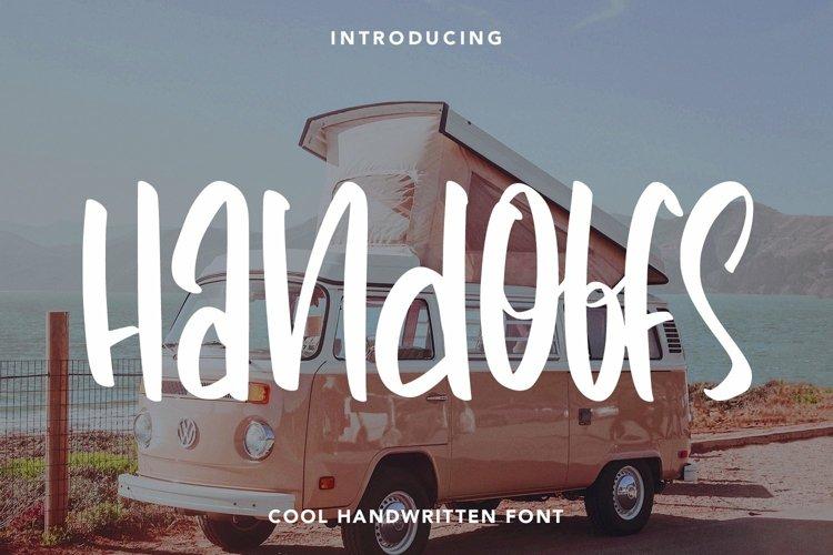 Web Font Handoffs - Cool Handwritten Font example image 1