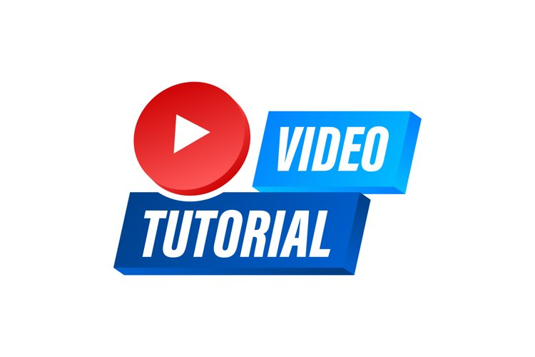 Video tutorials icon concept. Study and learning background example image 1