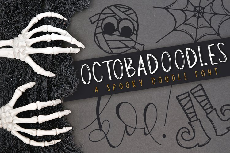 OctobaDoodles - A Halloween Doodle Font