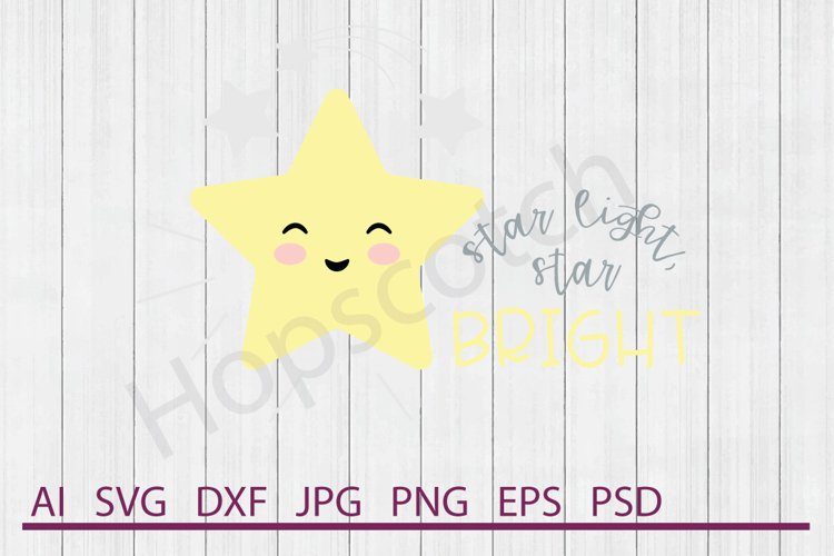Star SVG, Light Bright SVG, DXF File, Cuttable File example image 1