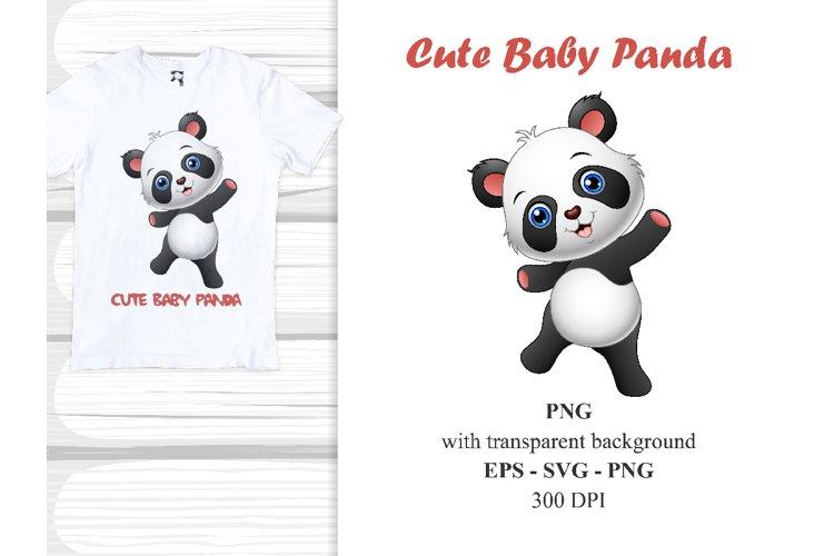 Cute Baby Panda Vector Clipart