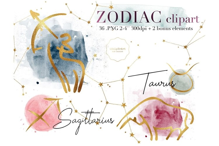 Zodiac Signs - Astrology ClipArt example image 1