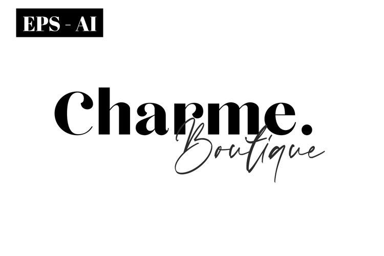 Logo Template - Feminine Boutique Minimal Logo Design example image 1