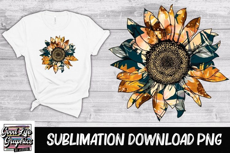 Sublimation designs for tshirts-sunflower-PNG example image 1