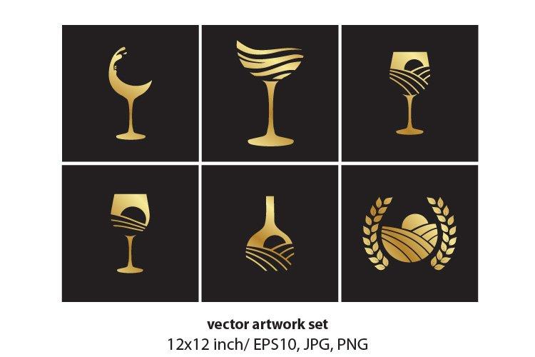 WINE, VECTOR ARTWORK SET example image 1