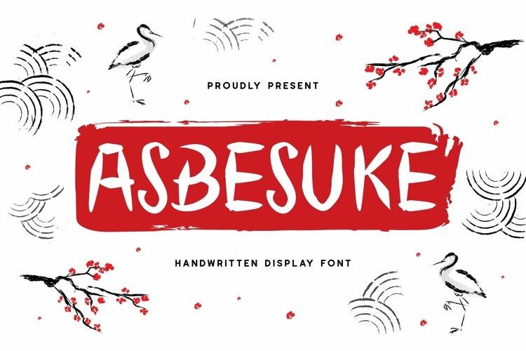 Web Font Abesuke Display Font example image 1