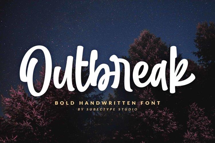 Outbreak / Bold Handwritten Font example image 1