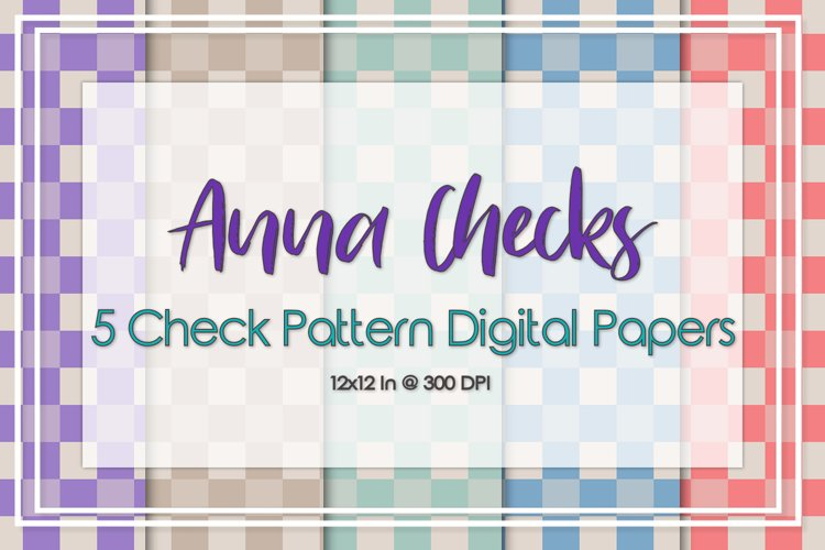 Anna Check Pattern Papers