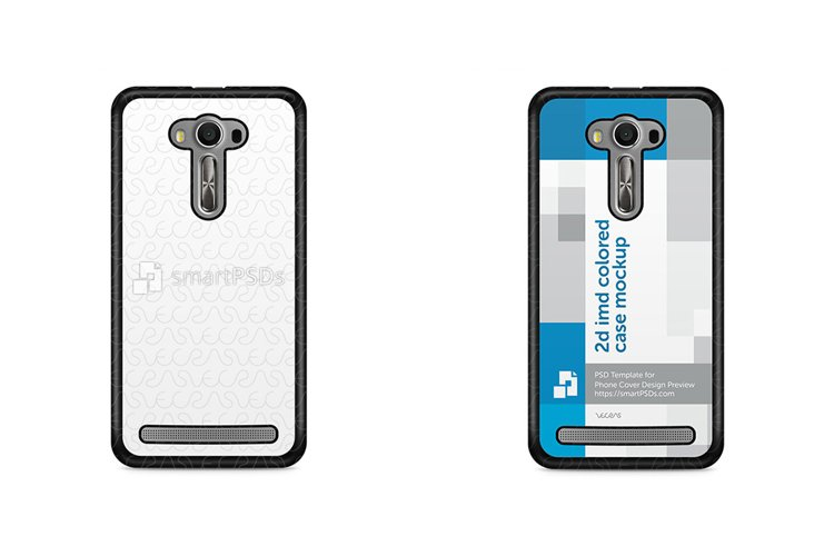 ASUS Zenfone 2 Laser 2d IMD Colored Mobile Case Mockup 2015 example image 1