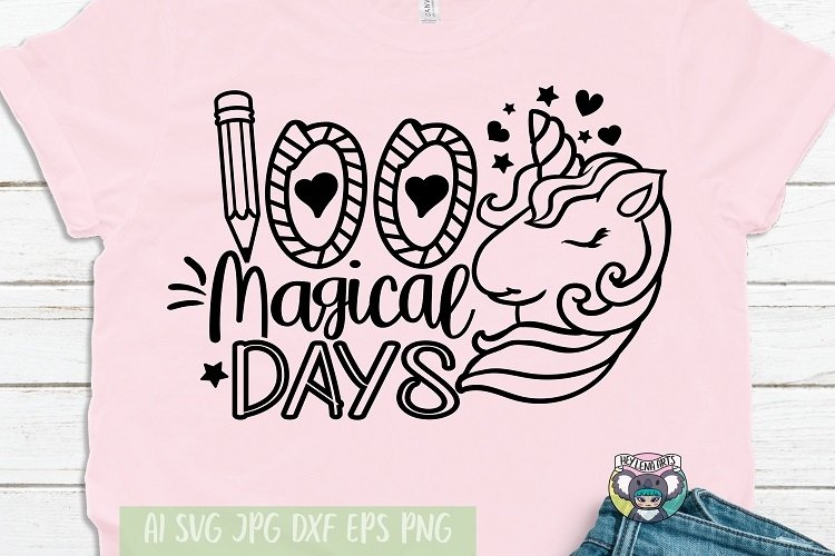 100 Magical Days svg, 100 Days of School svg, Cricut Files
