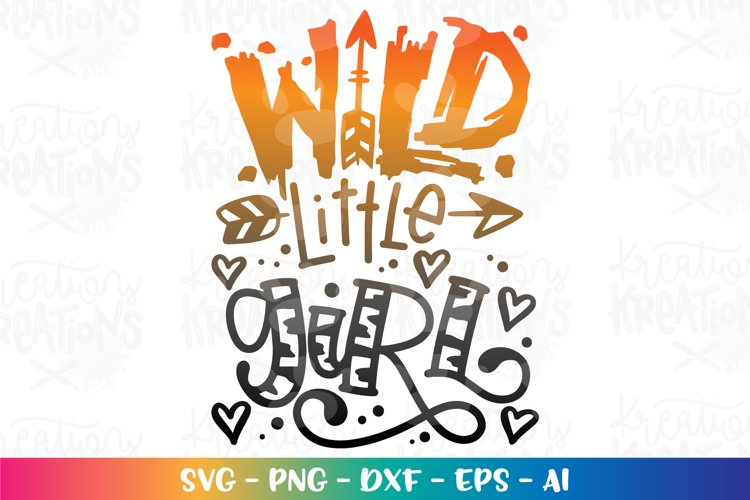 Camping svg Wild little girl svg Paw tiger pattern cute