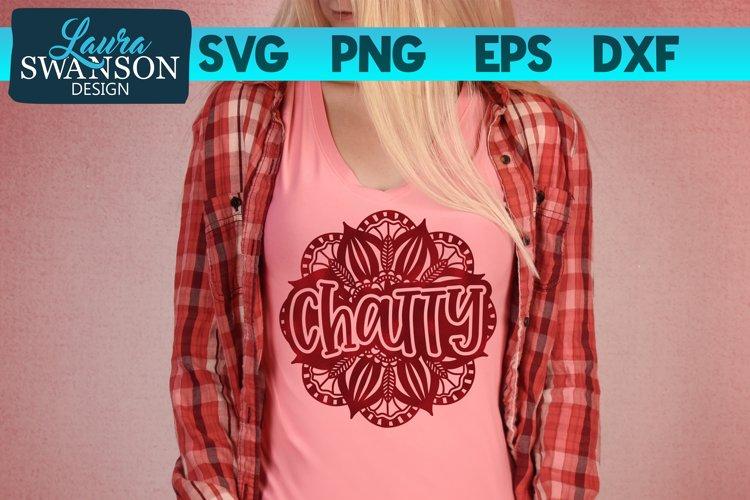 Chatty Mandala SVG Cut File