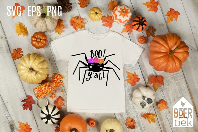 Spider sweet, Boo yall, halloween, SVG file