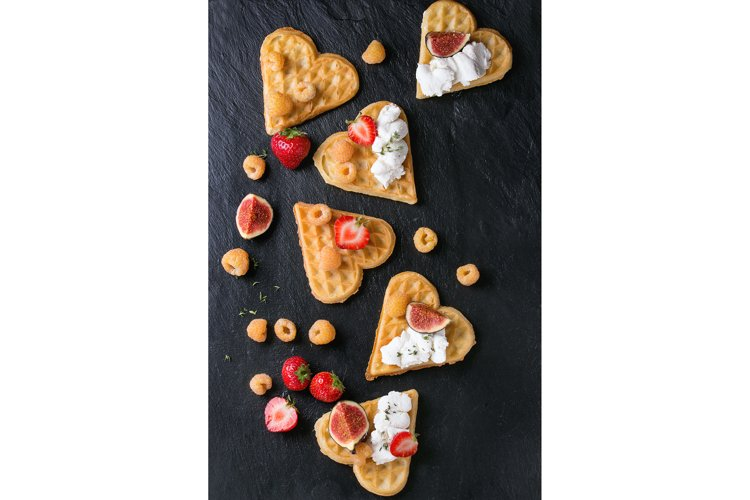 Wafers with berries example image 1