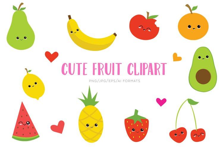 Cute fruit Vector Clipart