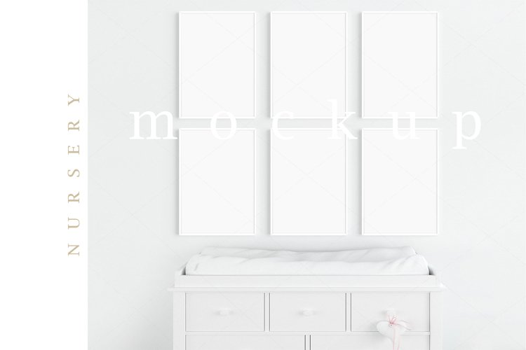 Kids Interior Nursery A4 White Frame Digital Mockup/M182 example image 1