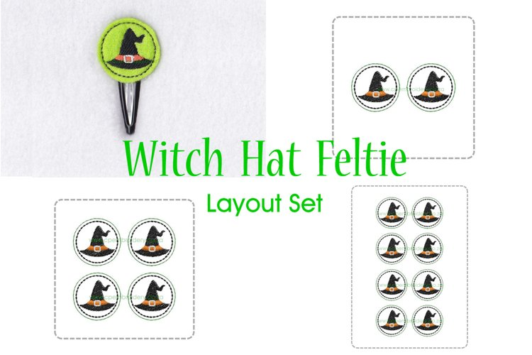 Witch Hat ITH Halloween Feltie Embroidery Design