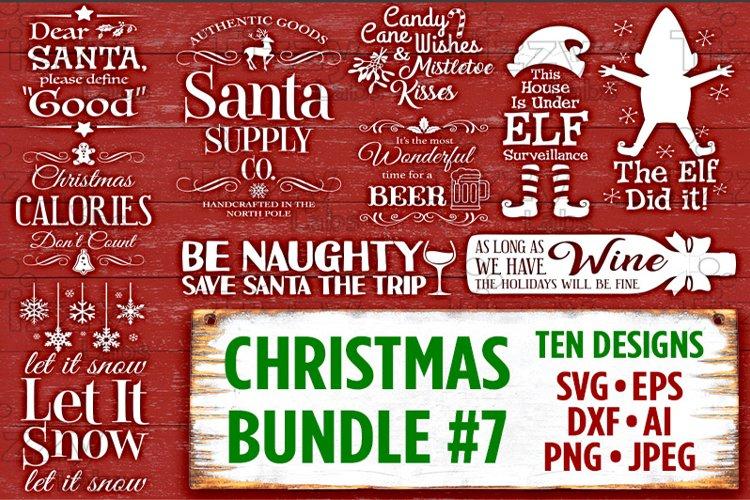 Christmas Bundle 7 SVG Files - Svg Files for Cricut Christmas Svg Files for Silhouette Christmas Christmas SVG Bundle Holiday SVG Files - 507 example image 1