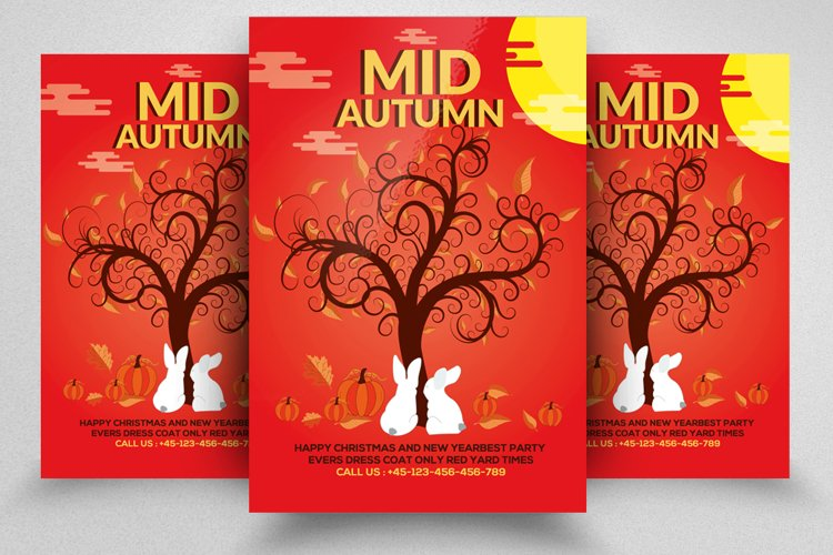 Mid Autumn Flyer Template example image 1