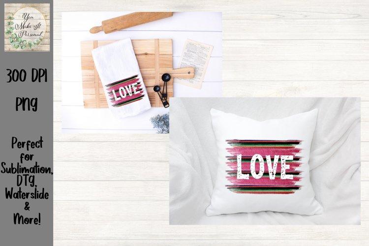 Sublimation Valentines Day Design, Love on Grunge Background example image 1