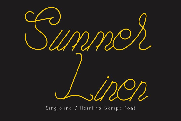 Summer Linen Single-line Font example image 1