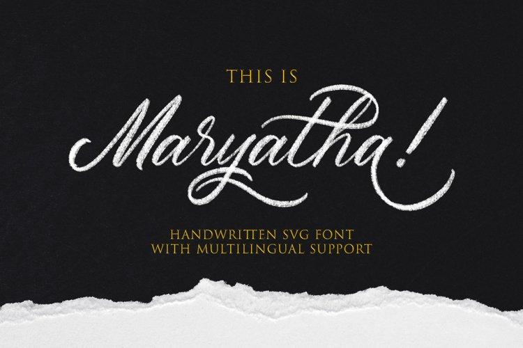 Maryatha SVG Font
