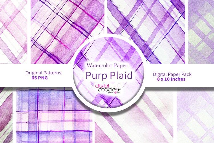 Purp Plaid Watercolor Paper