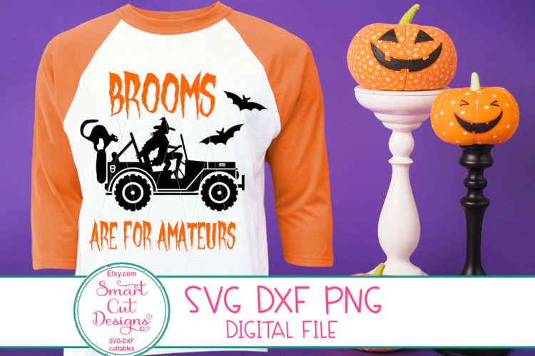 Brooms Are For Amateurs SVG, Halloween Monster Truck, Witch example image 1