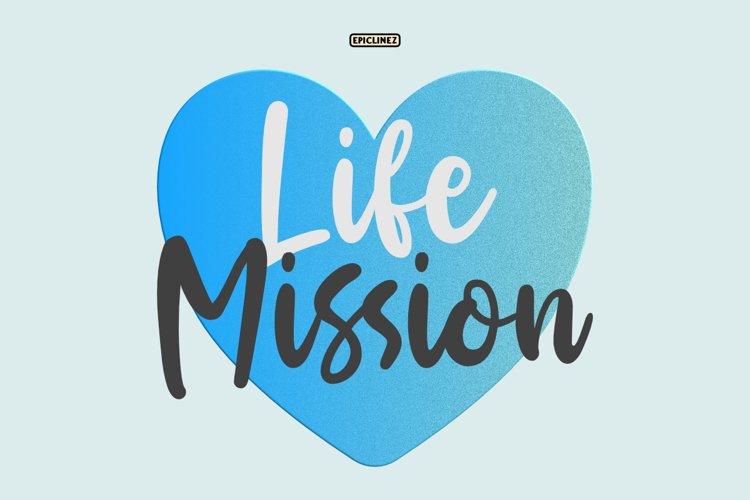 Life Mission - Handwritten Script example image 1