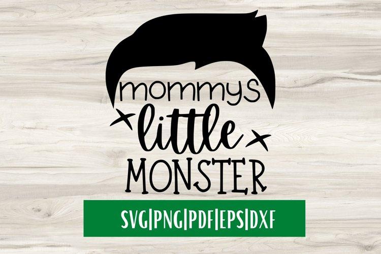 Mommys Little Monster SVG|Monster SVG example image 1